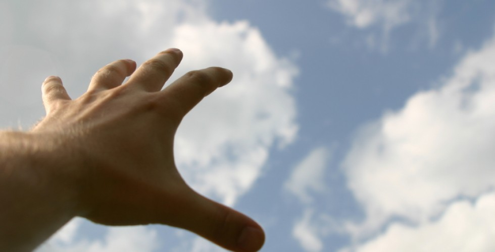 live your dream, cloud, hand,